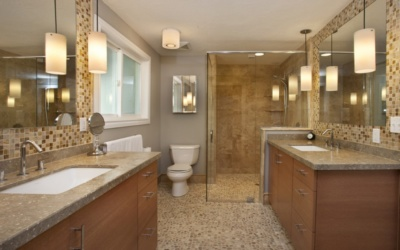 A bathroom remodel that played well with others