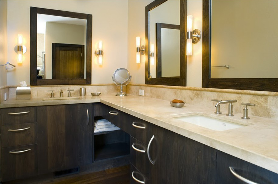 Behold the power of finishes! A Boise bathroom remodel