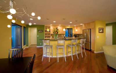 A kitchen boldly comes out