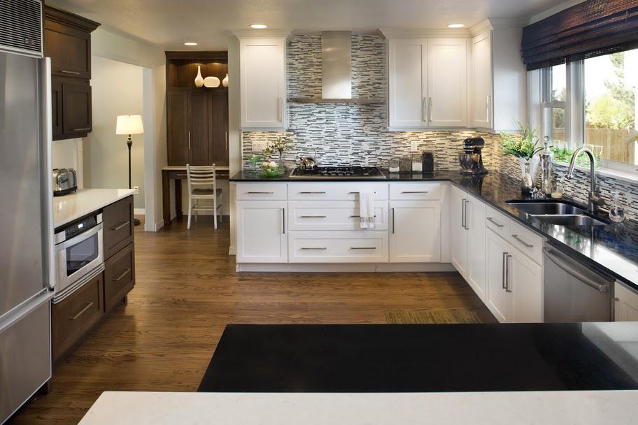 A dramatic kitchen remodel
