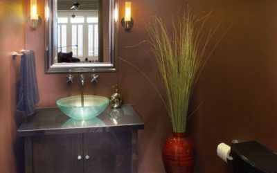 Creating a powder room with visual appeal