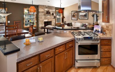 Boise kitchen remodel: This kitchen shows its social side