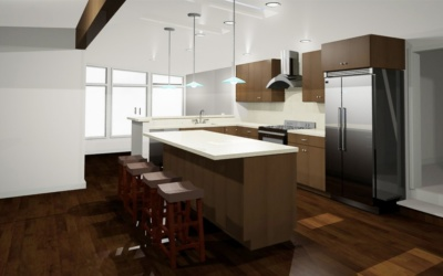 A structural kitchen remodel
